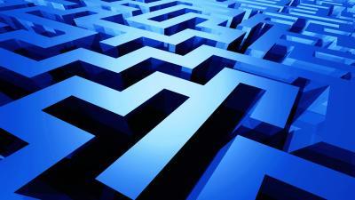 3D Blue Maze Wallpaper 61185